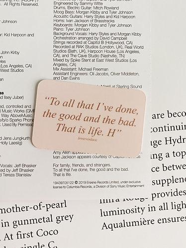 Fine Line Album Dedication Sticker