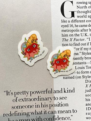 Dancing Cherries Sticker