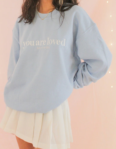 Light Blue Loved Crewneck