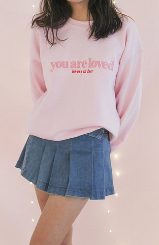 Light Pink Loved Crewneck