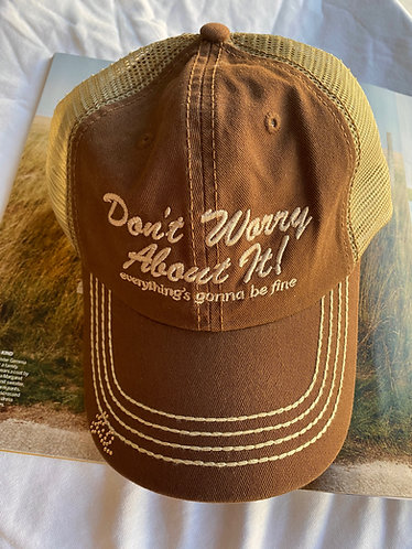 *PREORDER* Don't Worry About It Brown Trucker Hat