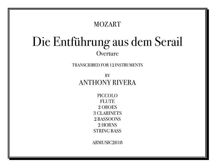 """Mozart, Wolfgang Amadeus - Overture from""""Die Entführung aus dem Serail,"""" K. 384"""