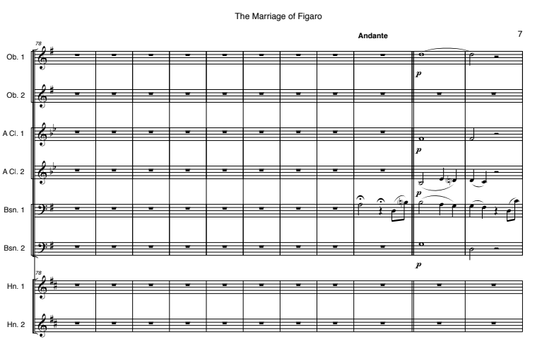 "Mozart, Wolfgang Amadeus Scena Ultima & Finale from ""Le Nozze di Figaro,"" K. 492"