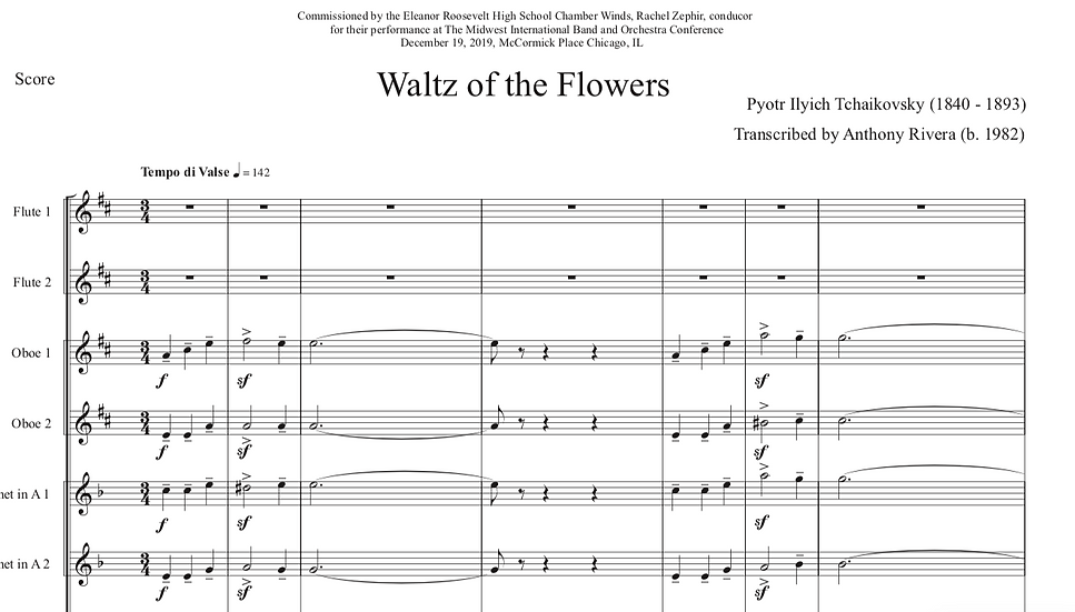 "Tchaikovsky, Pyotr - ""Waltz of the Flowers"" from  ""The Nutcracker"" ADVANCED"
