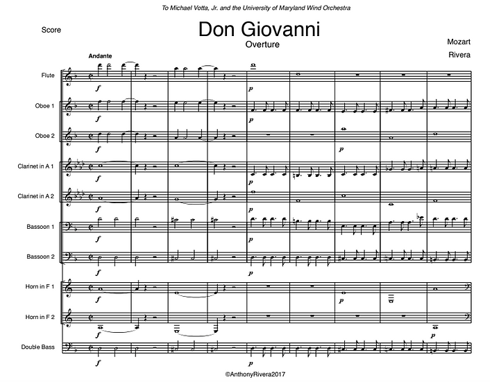 "Mozart, Wolfgang Amadeus - Overture from ""Don Giovanni,"" K. 527"