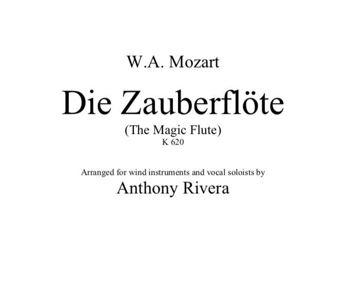 """Mozart, Wolfgang Amadeus -""""Die Zauberflöte,"""" K. 620"""