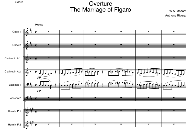 "Mozart, Wolfgang Amadeus - Overture to ""Le Nozze di Figaro,"" K. 492"