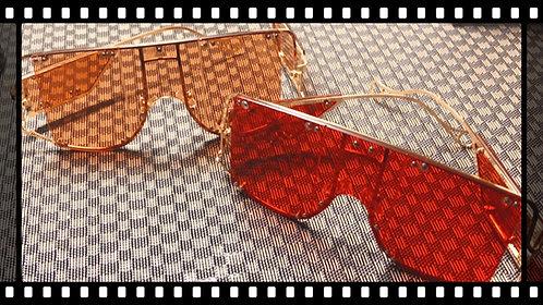 Rose Gold Super Aviator Glasses