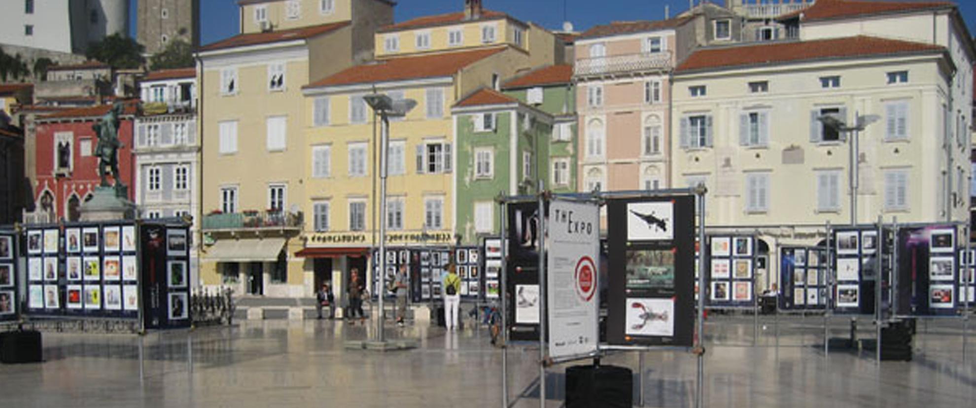 Tartini Plaza à Piran, Slovénie