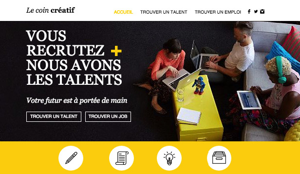 Consulting et Coaching website templates – Agence de Créa