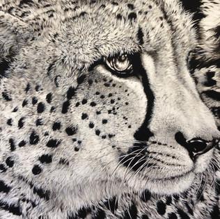Toile Cheetah monochrome