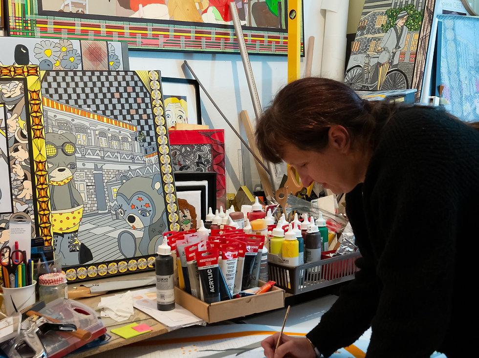 Atelieransicht Kerstin Heinze-Grohmann.j