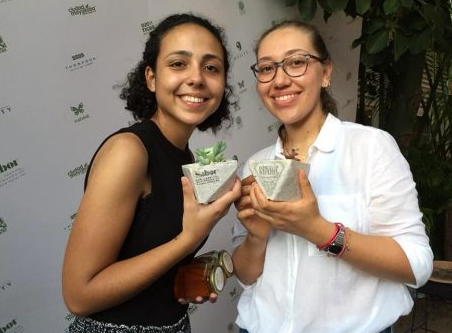 Esta mexicana recicla colillas de cigarro para cultivar plantas.