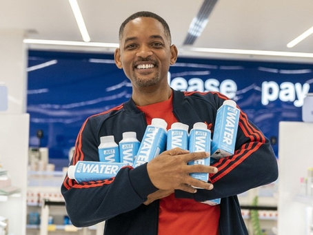 Will Smith lanzó su propia marca de agua embotellada.