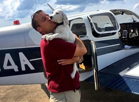 Veterano de guerra compró un avión para salvar a cientos de perros.
