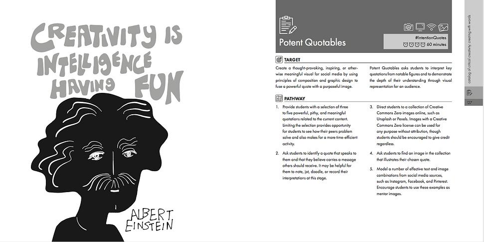Intention Critical Creativity Potent Quotables