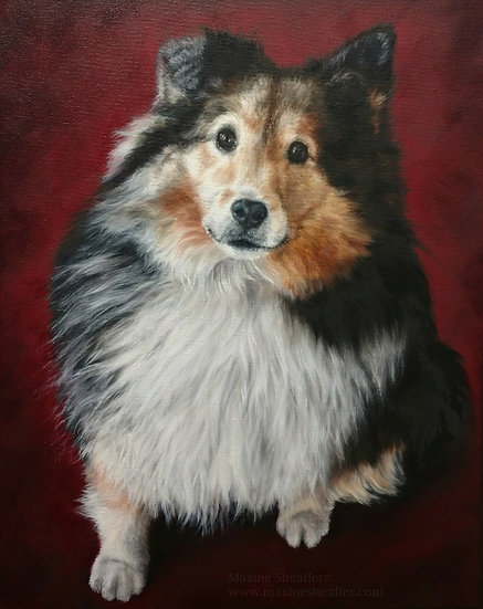 Custom Expressive Pet Portrait Starting at 12x16""