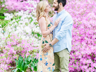 Morris Arboretum Engagement - Andrea Krout Photography