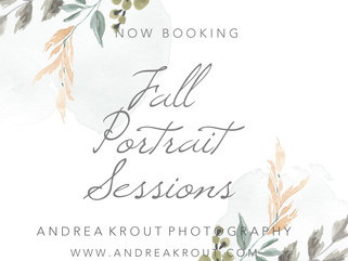 Philadelphia Mainline Area - Fall Mini Sessions 2018