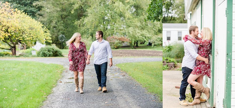 Engagement Photos Rodale Institute Kutztown Pennsylvania Andrea Krout Photography