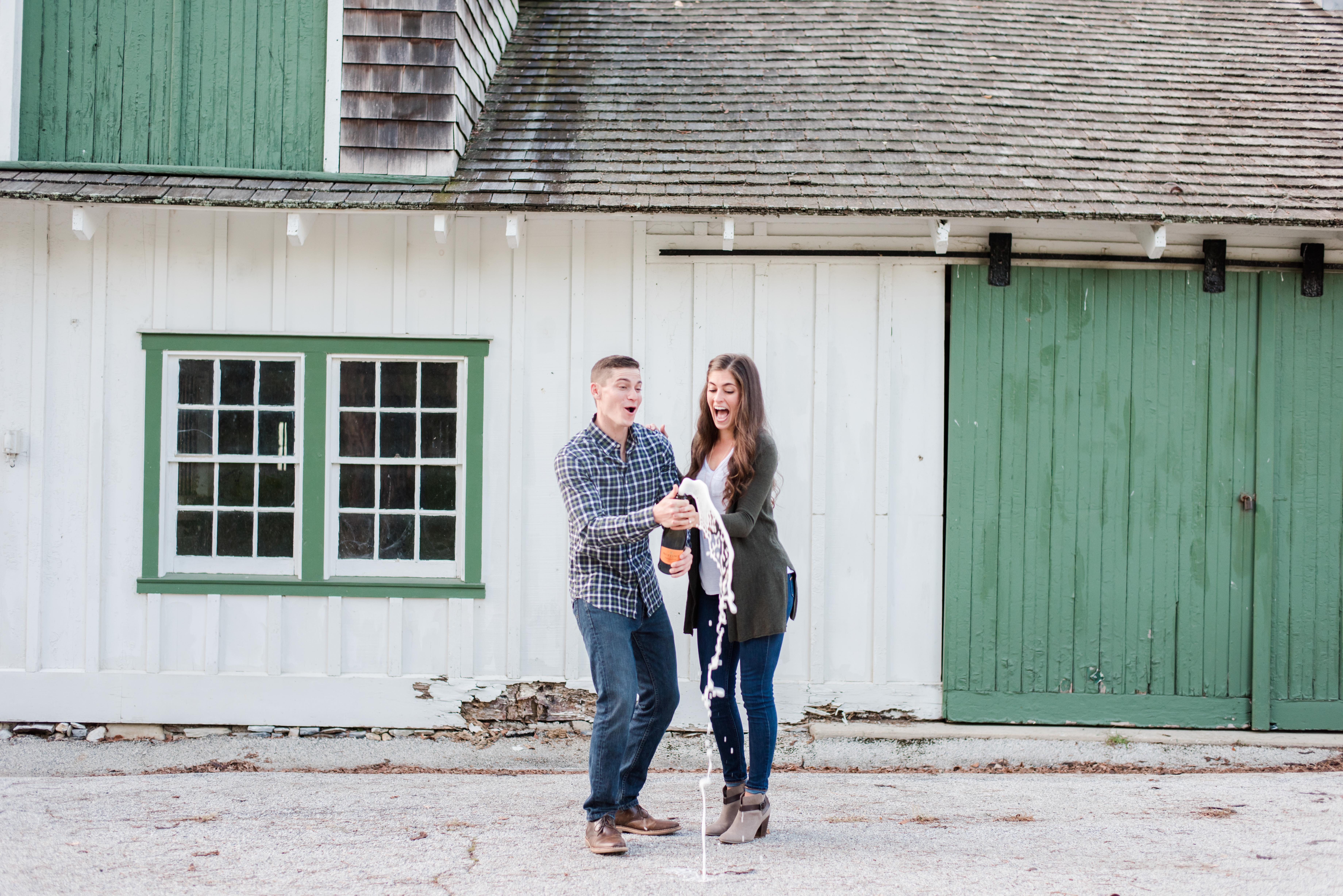 Rachel and Greg Engagement Photos Knox Headquarters Valley Forge Park Pennsylvania Andrea Krout Phot