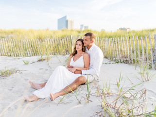 South Jersey Beach - Sunset Engagement