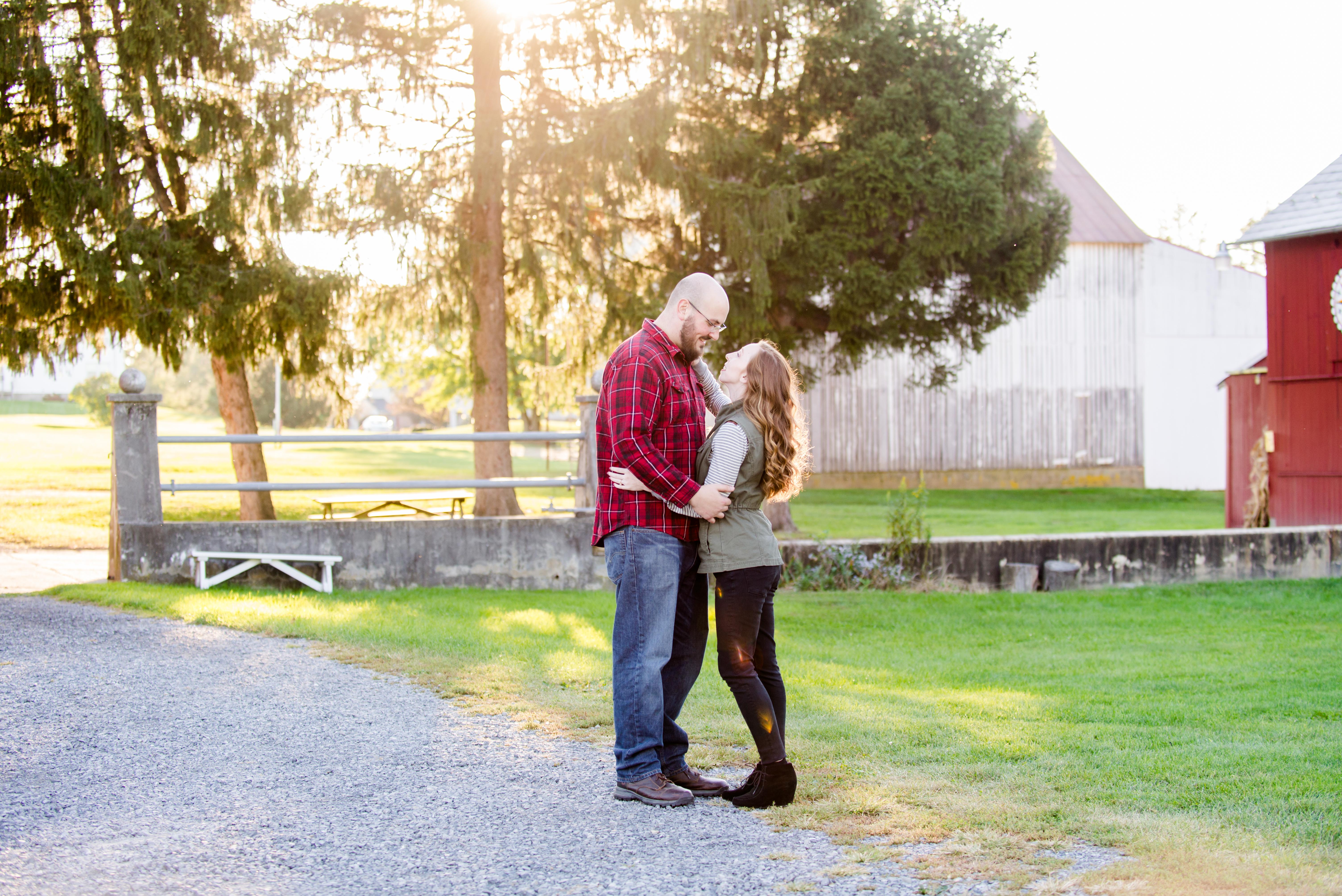 Mackenzie and Mike German Heritage Center Kutztown Pennsylvania Engagement Photos Andrea Krout Photo