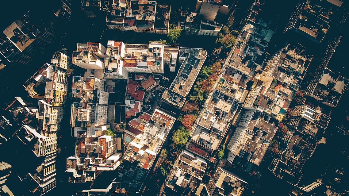 Flygfoto av en stad