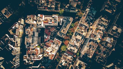 Foto aérea de uma cidade