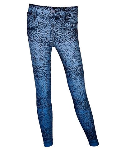 Leggings jeans snake light blue