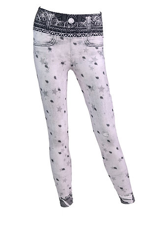 Leggings jeans white bacterias