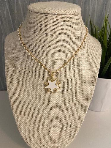 Collar white stars bella