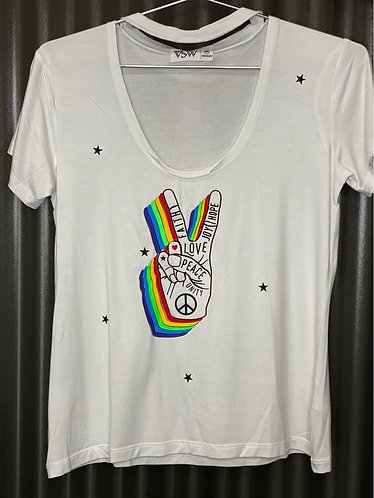 Top peace white