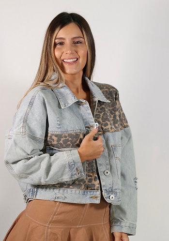 Jacket jeans animal print