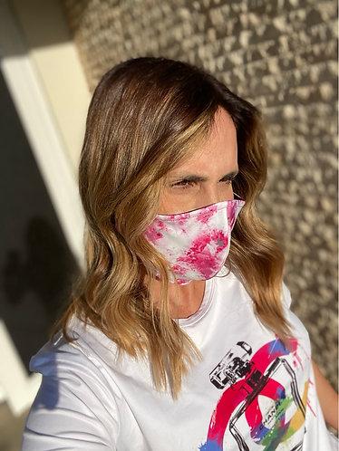 Mask tie dye pink adulto