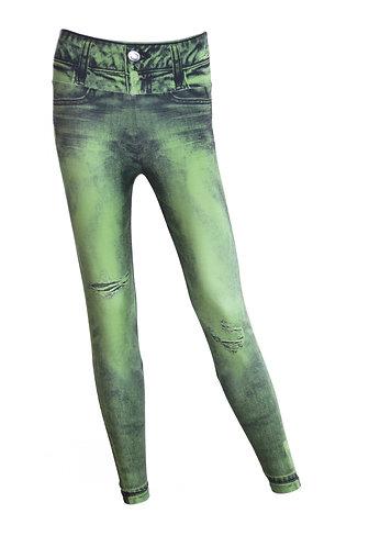 Leggings jeans plain militar