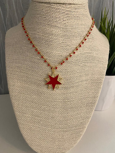 Collar red stars bella