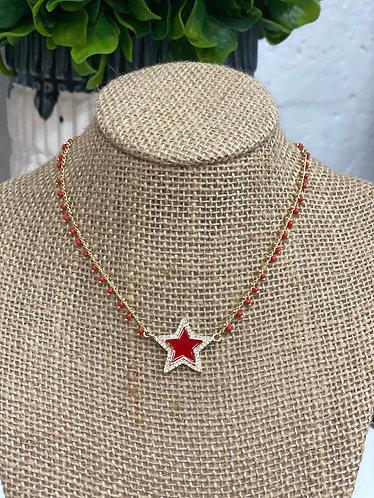Collar stars red