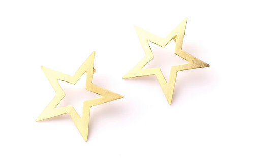 Aretes stars gold koral