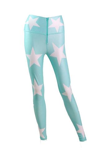 Leggings cuerina STARS