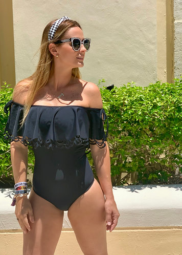 ONE PIECE BLACK MYKONOS