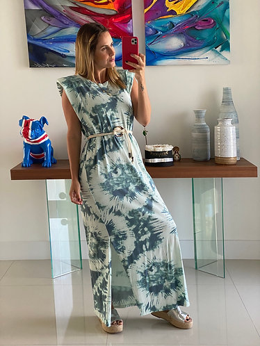 Dress tie dye hombreras