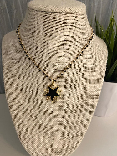 Collar stars black Bella