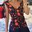 Thumbnail: Maxi dress blue red