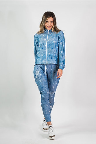 Set babucha stars light jeans