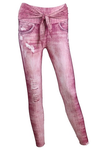 Leggings UP jeans pink