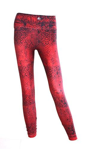 Leggings Jeans red Snake