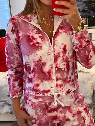 Jacket tie rosa