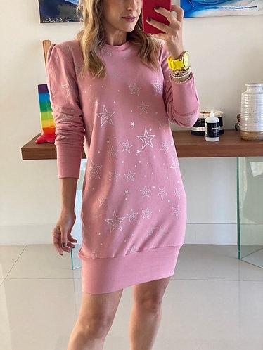 Dress pink stars