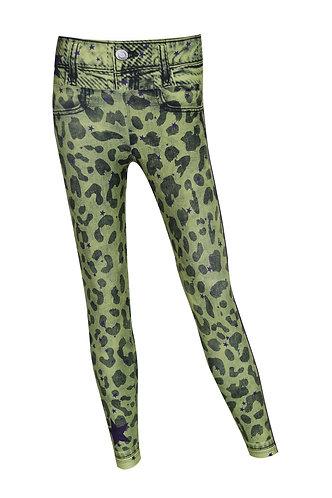 Leggings jeans leopardo FLuo